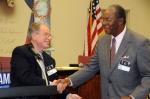 Milton Tambor, Atlanta DSA,and Bill Lucy, AFSCME