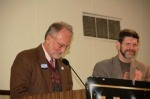 David Bonior with Detroit DSA Chair David Green