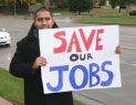 Wichita YDS President Axel Chacon at an Renegotiate NAFTA rally.