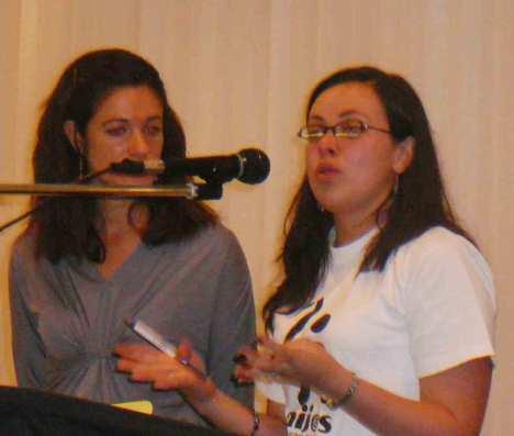 Yessika Hoyos and unidentified translator