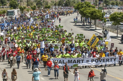 Walmart = Poverty: Huge March in LA | Talking Union