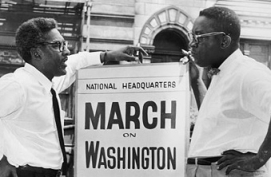 Bayard Rustin (left) and