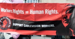 The NLRB says Cablevision violated the National Labor Relations Act in its attempts to deter its Bronx workers from joining the Communications Workers of America. (CWABrooklynVision )