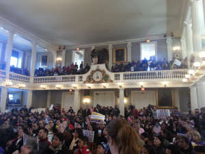 Immigration Rally at Faneuil Hall, Boston