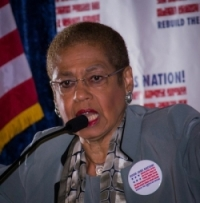 D.C. Representative Eleanor Holmes Norton says the low wages paid to federal contract workers are 'inhumane.' (Good Jobs Nation)