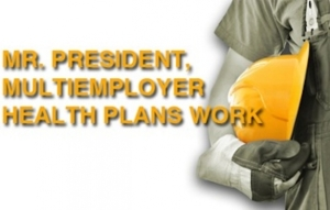 In a new ad campaign, the International Brotherhood of Electrical Workers (IBEW) asks the President to close Obamacare loopholes that would leave many construction workers without coverage.   (From the IBEW website)