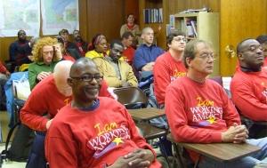 Organizers train with the Minnesota branch of Working America. Photo by Minnesota AFL-CIO.