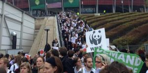 he International Trade Union Confederation (ITUC) joins major environmental and development groups in protest action at COP 19 in Warsaw where Governments are not acting responsibly to tackle the threat to lives, jobs and livelihoods that climate change represents.