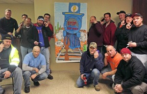 CWA Local 1103 Members Lobby Against Fast Track during work break