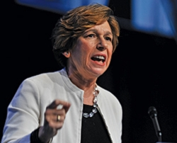 As a Jew who grew up in the Conservative movement and a union leader, I'm appalled at what has transpired at the Perelman Jewish Day School,' said Randi Weingarten, head of the American Federation of Teachers union. (Photo by Bill Burke/Page One)