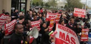 Strike Closes Burger King in Boston (photo credit Stevan Kirschbaum)