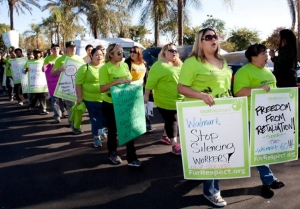 For years, Walmart workers have protested the company's low wages and unfair treatment of employees. This Friday, a week before the company's shareholders meet, hundreds of 'Walmart Moms' will begin walking off the job. (OUR Walmart)