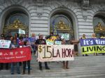On the steps of City Hall (photo: Carl Finamore)