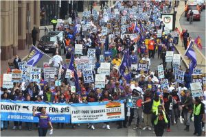 Boston wage demo 14th April