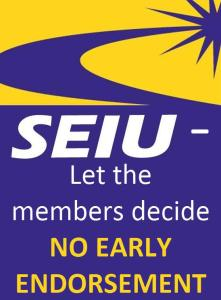 SEIU No Early Endorsement1